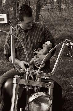 Harley Davidson newborn photos
