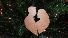 Laser Cut Couples first Chirstmas/Holiday Ornament