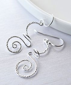 Sterling Silver Urban Free-Form Drop Earrings