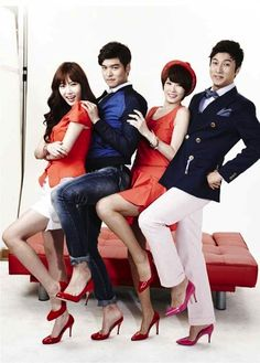 I Do, I Do (아이두 아이두)--(from left): Im So Hyang; Lee Jang Woo; Kim Sun Ah; Park Gun Hyung