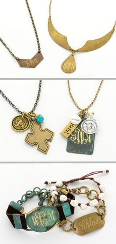 Monogrammed Vintage Collections | www.initialoutfitters.net/16054