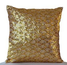SALE Gold Pillow Covers- Cream Gold Pillow Cases- Silk Pillows- Christmas Pillows- Gift Pillow- Sequin Cushion- Gold Cushion- Couch P Metallic Cushions, Sequin Cushion, Gold Cushions, Sequin Pillow, Silk Pillow, White Pillows, Accent Pillows, Couch Cushion Covers, Christmas Pillow