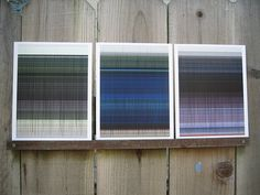 Generative art trio by Kristin Henry, inspired by Paul Klee drawing.    http://www.etsy.com/shop/ArtAtomic