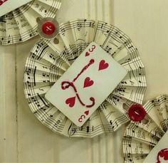Pollyanna Reinvents: Valentines Rosette Banner