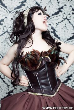 Brown leather corset by cexn on Etsy, $490.00