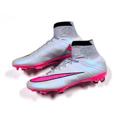 The dazzling Nike Mercurial Superfly FG Soccer Cleats! Hot from the Silver Storm Pack.