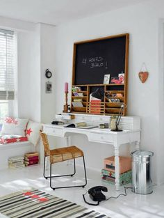 desk itself building Home Office antique chest of drawers white painting DIY ideas