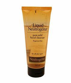 Liquid Neutrogena Pure Mild Facial Cleanser Fragrance Free Hypoallergenic 100 Ml