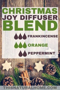 Christmas Essential Oil Diffuser Blends - This Natural Home You can have the smells of Christmas in your home every day for the whole season with these amazing Christmas essential oil diffuser blends. Essential Oils Christmas, Essential Oil Diffuser Blends, Doterra Essential Oils, Young Living Essential Oils, Joy Essential Oil, Yl Oils, Frankincense Essential Oil, Orange Essential Oil, Diffuser Recipes
