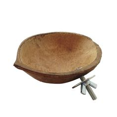 Coconut Feed Bowl w/ Hardware - $3.50 make with coconut shell & a wingnut