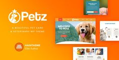 Petz - Pet Care & Veterinary Theme by haintheme If you seek to build a website for pet store, veterinary clinic, dog training classes, animal shelters and pet hotels, dog / cat t Template Wordpress, Tema Wordpress, Wordpress Theme Design, Wordpress Free, Marker, Dog House Plans, Pet Hotel, Dog Training Classes, Pet Clinic