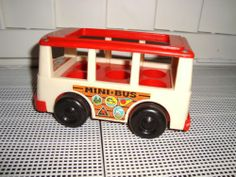 1970's Vintage Fisher Price School Bus Little People
