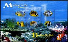 British Indian Ocean Territory Marine Life Butterfly Fish Stamps
