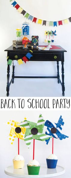 Back To School Ideas by Lindi Haws of Love The Day Back To School Party, School Parties, Diy Paper, Paper Crafts, Diy Crafts, Globe Decor, Basketball Party, Baby Shower Fall, Gift Tags Printable