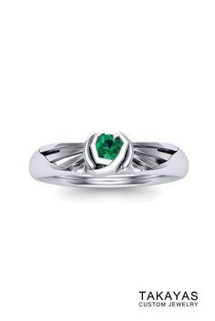 Kokiri Emerald Zelda Inspired Ring by Takayas Custom Jewelry