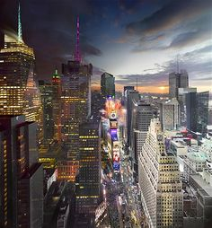Times Square, New Year's Eve, New York