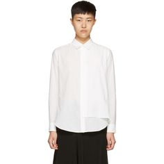 Y's - White Double Layer Shirt