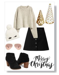 """""""first day of winter break💓🎄❄️"""" by alli0228 ❤ liked on Polyvore featuring Miss Selfridge, Kate Spade and Ray-Ban"""