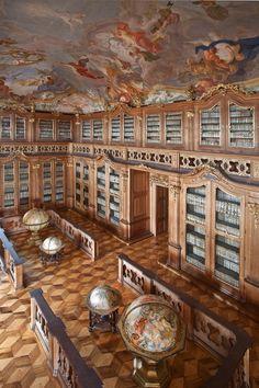 Archbishop castle library in Kroměříž (South Moravia), Czechia