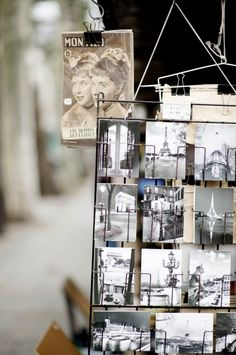 C l a s s y in the city...I have a vintage display rack much like this...may need to bring this into the shop soon...