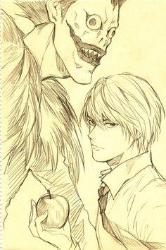 Light and Ryuk.