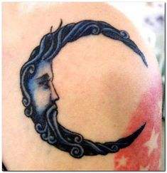 Moon tattoo designs boast of great versatility because they look good on men and women and can be inked on various placements on the body, depending upon the size and design of the tattoos Drug Tattoos, Bild Tattoos, Star Tattoos, Body Art Tattoos, New Tattoos, Tattoos For Guys, Cool Tattoos, Elephant Tattoo Meaning, Elephant Tattoos