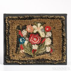 Shirred Floral Panel