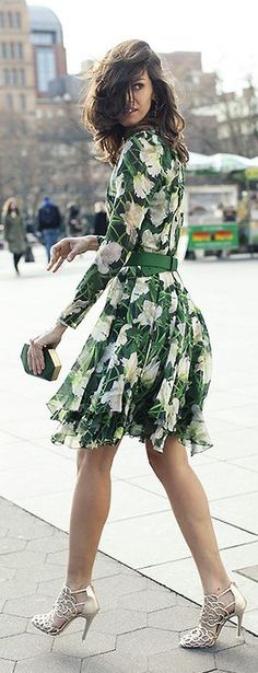 Green Floral Styling