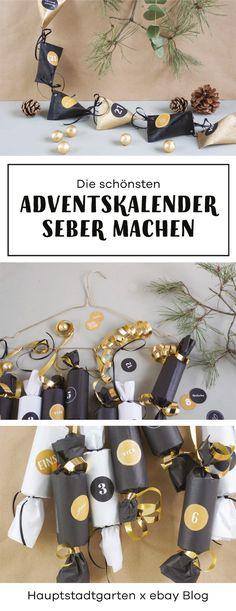 Bastel Dir Deinen eigenen Adventskalnder durch Upcycling von Klorollen. Tolles DIY Projekt mit Anleitung und Freebie für Kinder und Erwachsene.