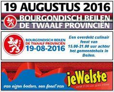 Bourgondisch Beilen, 19 augustus met EEN GRATIS OPTREDEN van jeWelste. Bourgondisch Beilen wordt voor de 5de keer georganiseerd. Het beloofd weer een groot spektakel te worden met dit jaar als thema de Twaalf Provinciën. http://koopplein.nl/middendrenthe/1042747/bourgondisch-beilen-19-augustus-2016.html