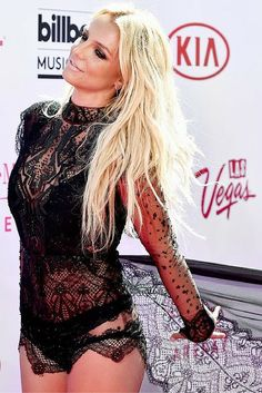 Britney Spears at the Billboard Music Awards 2016. Red Carpet Fashion looks.