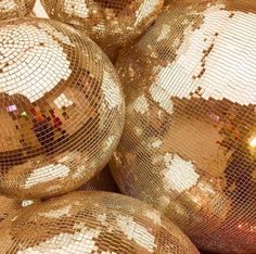 """supine-aesthetic: """" image description: pile of golden disco balls """" Gold Aesthetic, Aesthetic Colors, Rainbow Aesthetic, Summer Aesthetic, Lila Party, Death Of A Bachelor, The Wicked The Divine, The Get Down, Or Noir"""