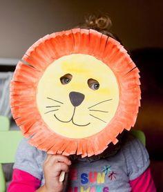 40 Υπέροχες Αποκριάτικες ΜΑΣΚΕΣ από Χαρτί! Paper Plate MasksPaper ... & Alphabet Crafts - Letter L | Craft letters Lion mask and Alphabet ...