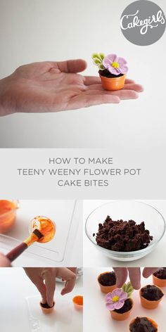 A super easy little treat that's perfect for Mother's Day, using a mini flower pot chocolate mold! |Cakegirls Step x Step