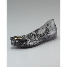 Jason Wu for Melissa Lace-Print Jelly Ballerina Flat found on Polyvore