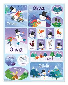 Girls and boys love stickers, and they're even more fun when they include the child's own name! The x personalized sticker sheet features beautiful artwork and your child's name on 18 stickers. Personalized Books For Kids, Personalized Stickers, Love Stickers, Before Christmas, Beautiful Artwork, Your Child, More Fun, Snowman, My Books
