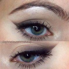 toned down winged eyeliner. great for hooded eyes! not as harsh looking, everyday eye makeup @daphnelaurenmakeup
