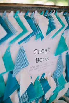 Quilt Guest Book - Get the guests to write down their well wishes on the swatches
