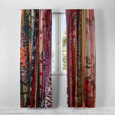 Tapestry Curtains, Bohemian Curtains, Colorful Curtains, Sheer Curtain Panels, Sheer Curtains, Window Curtains, Floor To Ceiling Curtains, Office Curtains, Gypsy Room