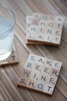 """Des sous verres """"Scrabble"""""""