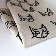 Crazy Cat Lady - Handprinted Fabric
