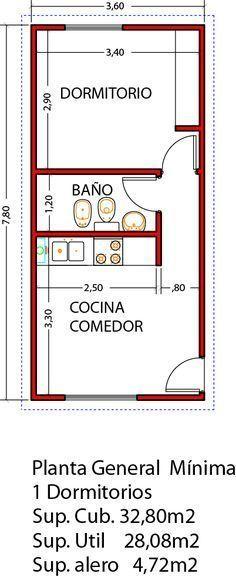 Vivienda de 1 dormitorio 32,80m2 ampliable a 3 dormitorios en un futuro - Viviendas Tríade #fachadasdecasasclasicas