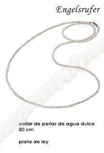 Collar de perlas de agua dulce naturales de 80 cm. de la firma de joyería Engelsrufer, perfecta para combinarlo con tus llamadores de ángeles de plata.