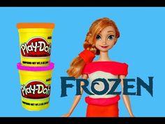 0bd6fbceb4 Play Doh Frozen Anna Barbie Doll Makeover Disney Princess Color Change  PlayDough Dress DisneyCarToys Play Doh