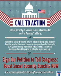 Please sign our petition asking Congress to BOOST #SocialSecurity benefits.