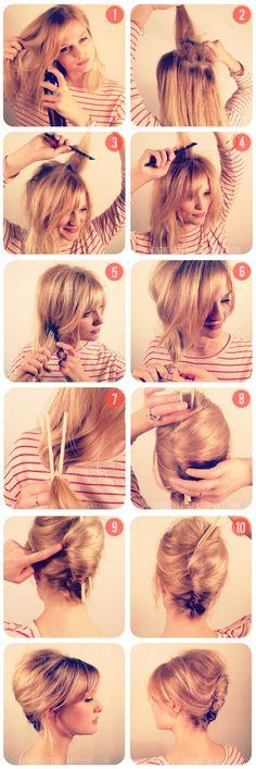 Penteado para cabelos curtos - ClickGrátis