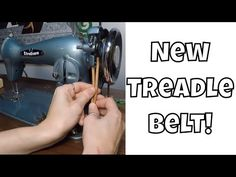 Learn how to change a treadle belt step by step with Leah Day. Leah shares lots of tips and tricks for changing the leather belt on your vintage sewing machi. Antique Sewing Machine Table, White Sewing Machine, Sewing Machine Repair, Treadle Sewing Machines, Antique Sewing Machines, Cute Sewing Projects, Sewing Blogs, Sewing Basics, Sewing Hacks
