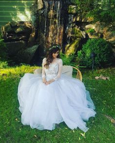 Our beautiful bride Cristina, in her Isabelle dress. #OtiliaBrailoiuAtelier #weddingdress