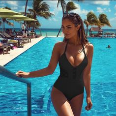Red Sexy One-piece Swimsuit Ruffles V-neck Monokini Beach Bathing Suit Swimwear. Ladies One-Piece Swimsuit Belted Padded Solid Bikini Monokini Beachwear Swimwear. Two-piece High Waist Lady Bikini Set Swimwear Striped Swimsuit Strapless Bandeau. One Piece Swimsuit White, Push Up Swimsuit, One Piece Bikini, Women's One Piece Swimsuits, Sheer Swimsuit, Black Swimsuit, Sexy Bikini, Bikini Bandeau, Plunge Bikini