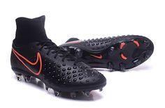 finest selection 71ac0 53c2b Nike Magista orden II FG Black Orange Top Ankle Men Soccer Boots